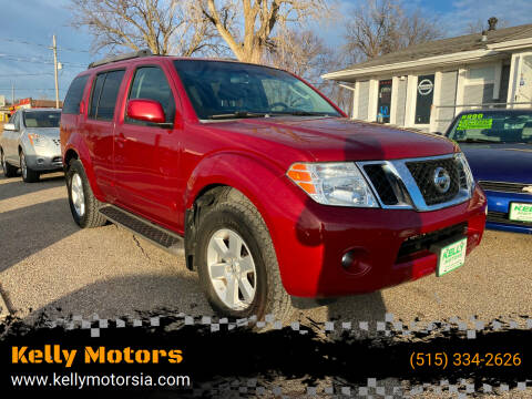 2008 Nissan Pathfinder for sale at Kelly Motors in Johnston IA