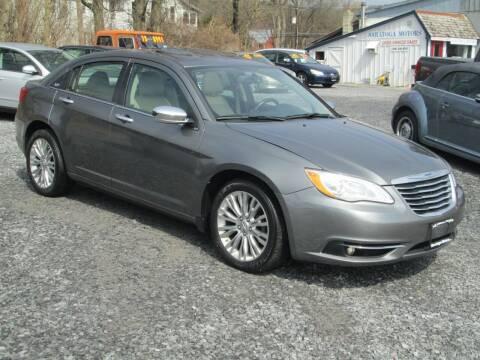 2012 Chrysler 200 for sale at Saratoga Motors in Gansevoort NY