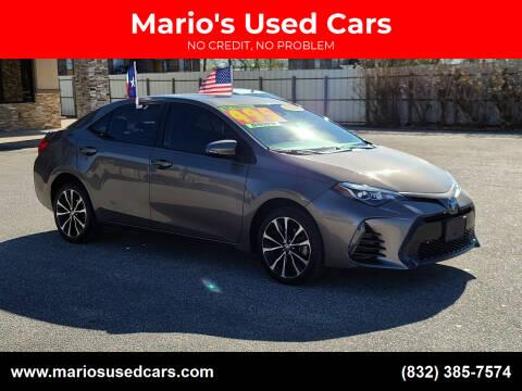2018 Toyota Corolla for sale at Mario's Used Cars - Pasadena Location in Pasadena TX