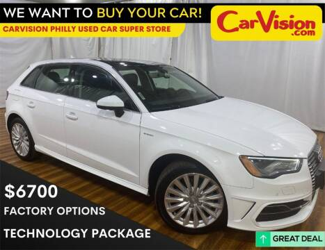 2016 Audi A3 Sportback e-tron for sale at Car Vision Mitsubishi Norristown - Car Vision Philly Used Car SuperStore in Philadelphia PA
