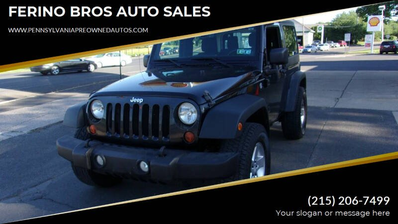 2013 Jeep Wrangler for sale at FERINO BROS AUTO SALES in Wrightstown PA