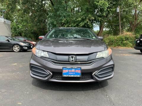 2014 Honda Civic for sale at FIRST CLASS AUTO in Arlington VA