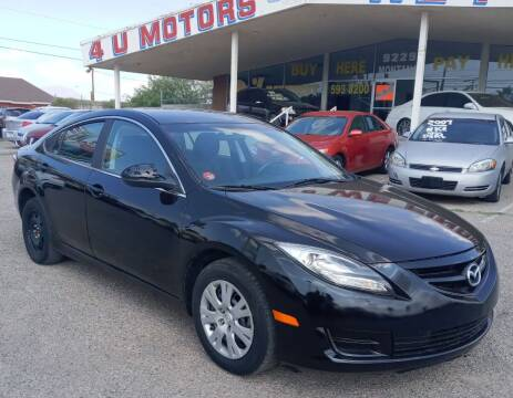 2012 Mazda MAZDA6 for sale at 4 U MOTORS in El Paso TX