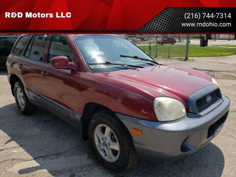2003 Hyundai Santa Fe for sale at R&D Motors LLC in Cleveland OH