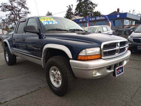 2002 Dodge Dakota for sale at All American Motors in Tacoma WA