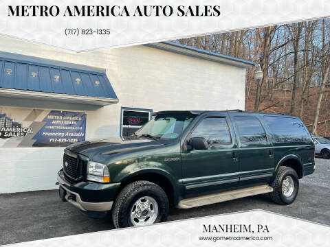 2002 Ford Excursion for sale at METRO AMERICA AUTO SALES of Manheim in Manheim PA
