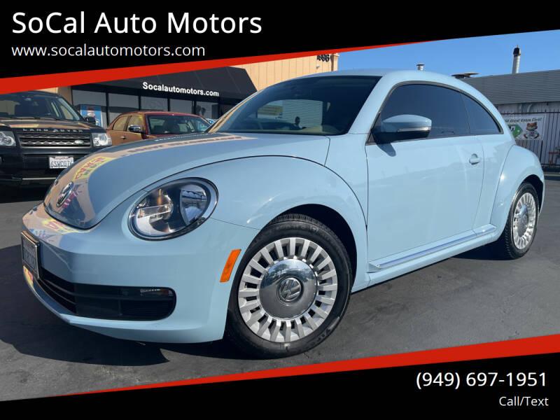 2015 Volkswagen Beetle for sale at SoCal Auto Motors in Costa Mesa CA