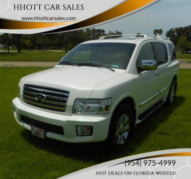 2007 Infiniti QX56 for sale at HHOTT CAR SALES in Deerfield Beach FL