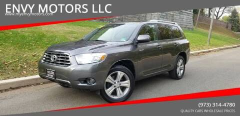 2008 Toyota Highlander for sale at ENVY MOTORS LLC in Paterson NJ