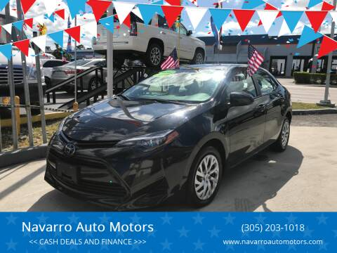 2018 Toyota Corolla for sale at Navarro Auto Motors in Hialeah FL