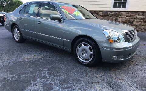 2002 Lexus LS 430 for sale at No Full Coverage Auto Sales in Austell GA