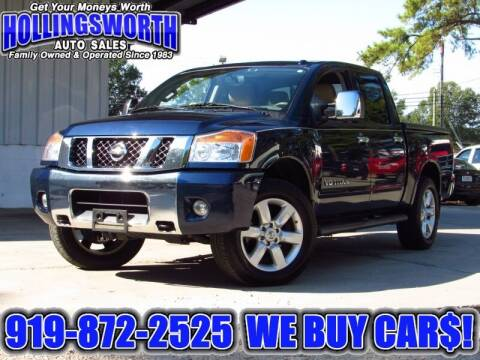 2012 Nissan Titan for sale at Hollingsworth Auto Sales in Raleigh NC
