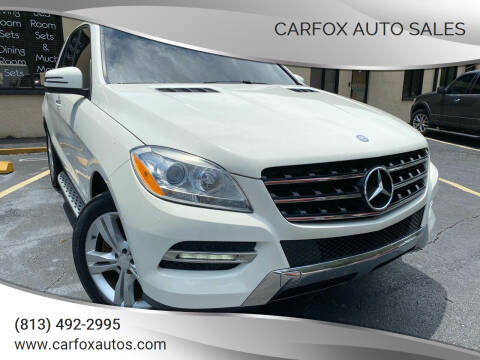 2013 Mercedes-Benz M-Class for sale at Carfox Auto Sales in Tampa FL