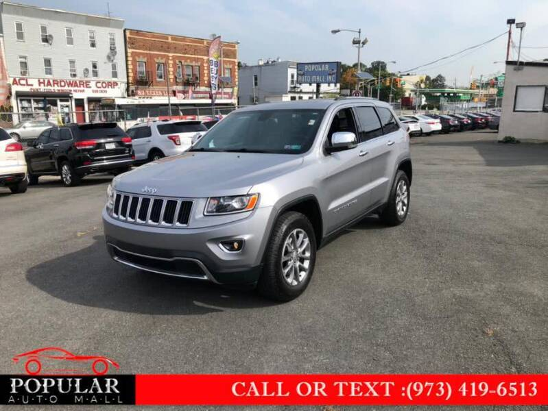 2015 Jeep Grand Cherokee for sale at Popular Auto Mall Inc in Newark NJ