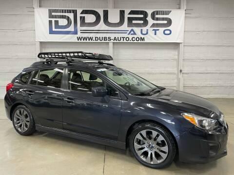 2014 Subaru Impreza for sale at DUBS AUTO LLC in Clearfield UT