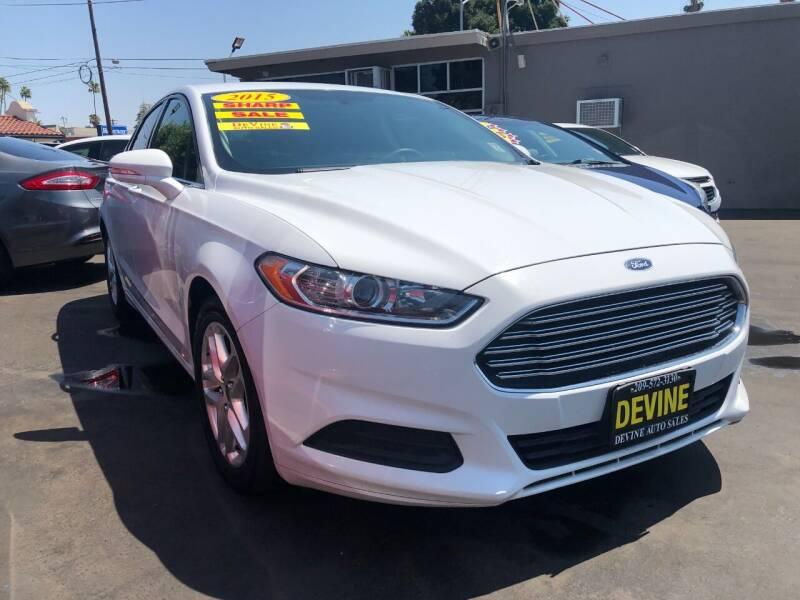 2015 Ford Fusion for sale at Devine Auto Sales in Modesto CA