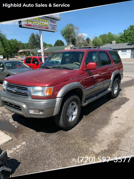 1999 Toyota 4Runner for sale at Highbid Auto Sales & Service in Arvada CO