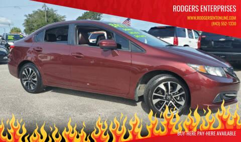 2014 Honda Civic for sale at Rodgers Enterprises in North Charleston SC