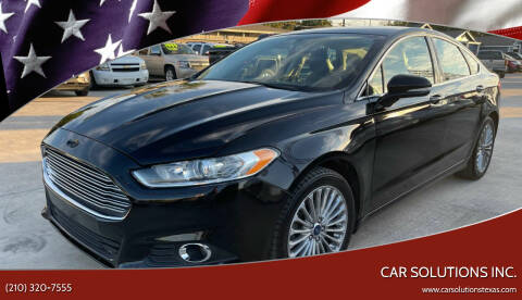 2016 Ford Fusion for sale at Car Solutions Inc. in San Antonio TX
