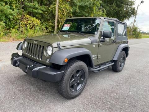 2016 Jeep Wrangler for sale at Autoteam of Valdosta in Valdosta GA