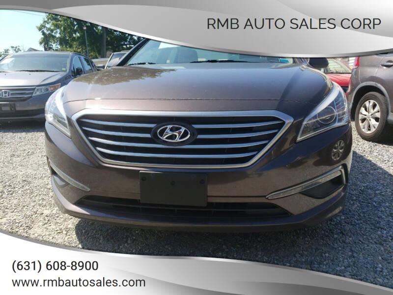 2015 Hyundai Sonata for sale at RMB Auto Sales Corp in Copiague NY