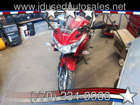 2012 Honda CBR250R - No data for sale at J D USED AUTO SALES INC in Doraville GA