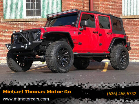 2008 Jeep Wrangler Unlimited for sale at Michael Thomas Motor Co in Saint Charles MO