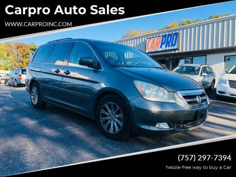 2007 Honda Odyssey for sale at Carpro Auto Sales in Chesapeake VA