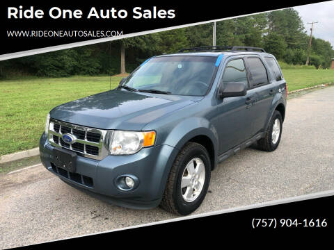 2012 Ford Escape for sale at Ride One Auto Sales in Norfolk VA