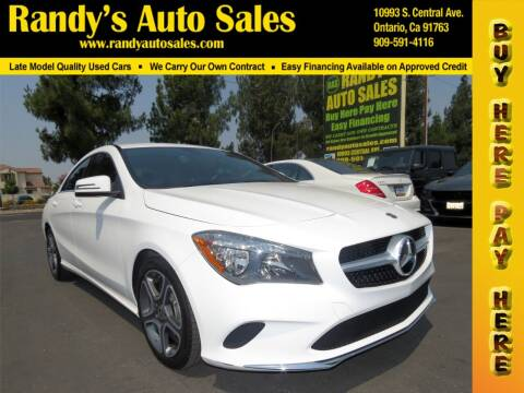 2018 Mercedes-Benz CLA for sale at Randy's Auto Sales in Ontario CA