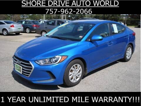 2017 Hyundai Elantra for sale at Shore Drive Auto World in Virginia Beach VA