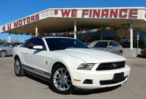 2010 Ford Mustang for sale at 4 U MOTORS in El Paso TX