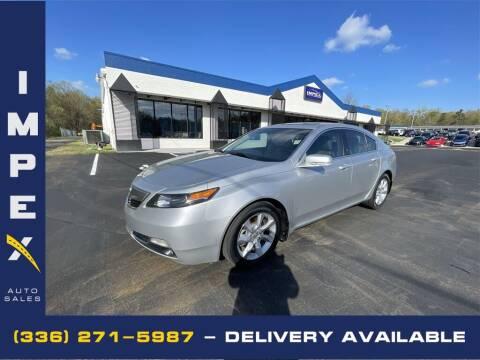 2012 Acura TL for sale at Impex Auto Sales in Greensboro NC