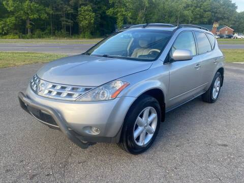 2004 Nissan Murano for sale at CVC AUTO SALES in Durham NC