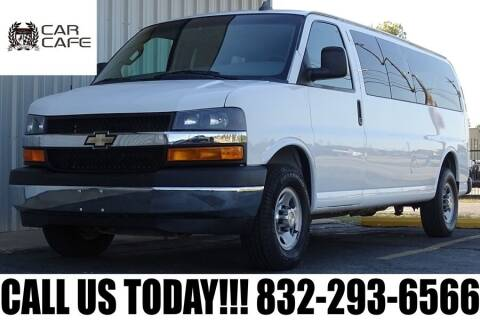 2017 Chevrolet Express Passenger for sale at CAR CAFE LLC in Houston TX