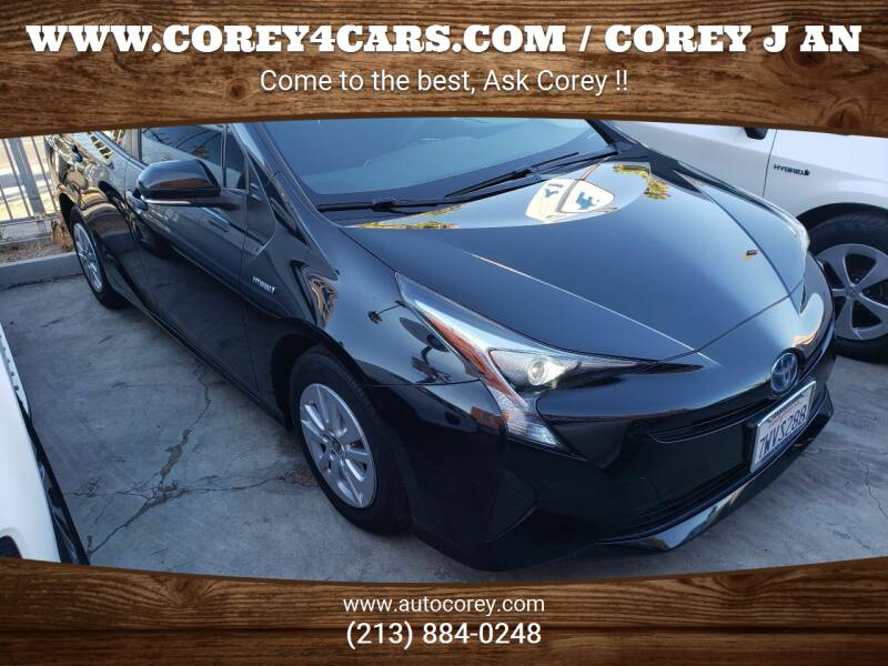 2017 Toyota Prius for sale at WWW.COREY4CARS.COM / COREY J AN in Los Angeles CA
