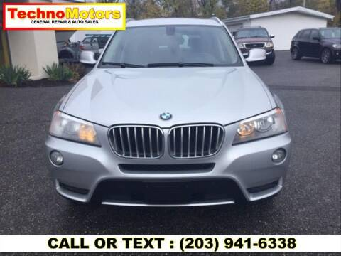 2013 BMW X3 for sale at Techno Motors in Danbury CT