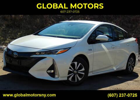 2017 Toyota Prius Prime for sale at GLOBAL MOTORS in Binghamton NY