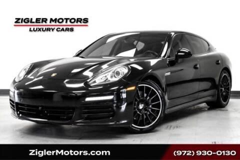 2014 Porsche Panamera for sale at Zigler Motors in Addison TX