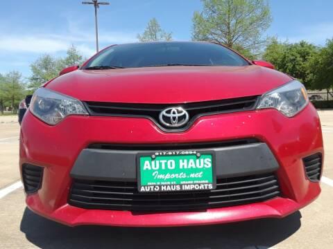 2014 Toyota Corolla for sale at Auto Haus Imports in Grand Prairie TX