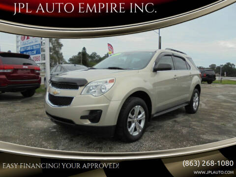 2012 Chevrolet Equinox for sale at JPL AUTO EMPIRE INC. in Auburndale FL