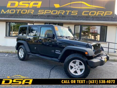 2011 Jeep Wrangler Unlimited for sale at DSA Motor Sports Corp in Commack NY