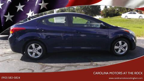 2013 Hyundai Elantra for sale at Carolina Motors at the Rock in Rockingham NC