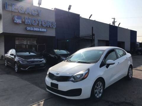 2014 Kia Rio for sale at Legacy Motors in Detroit MI