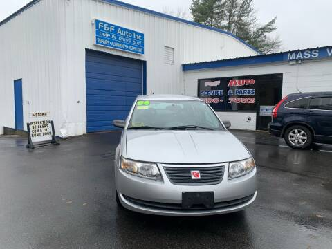 2006 Saturn Ion for sale at F&F Auto Inc. in West Bridgewater MA