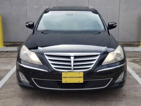 2012 Hyundai Genesis for sale at Delta Auto Alliance in Houston TX