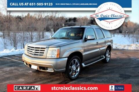 2003 Cadillac Escalade for sale at St. Croix Classics in Lakeland MN