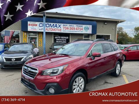2019 Subaru Outback for sale at Cromax Automotive in Ann Arbor MI