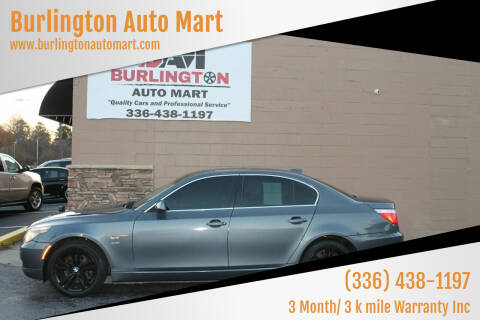 2010 BMW 5 Series for sale at Burlington Auto Mart in Burlington NC
