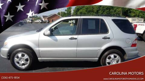 2004 Mercedes-Benz M-Class for sale at CAROLINA MOTORS in Thomasville NC